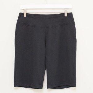 Zella Black Stretch Athletic Bermuda Shorts S